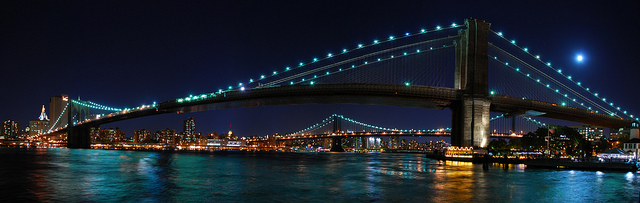 full moon brooklyn bridge