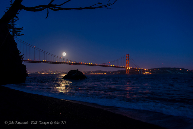 full moon golden gate bridge