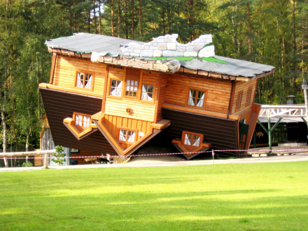 upside down house poland