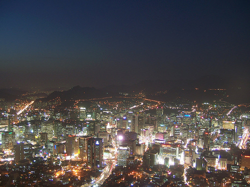 seoul south korea skyline