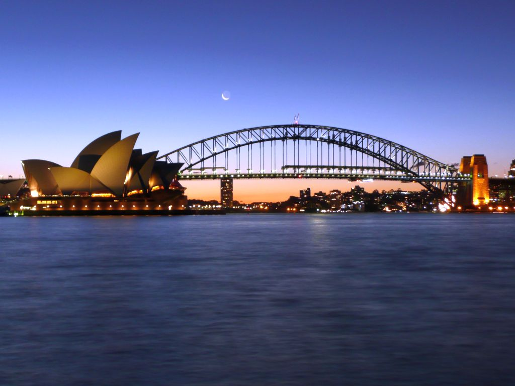 sydney bridge and opera house