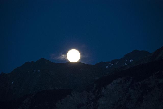 full moon swiss alps