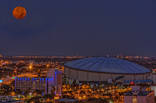 full moon tropicana field