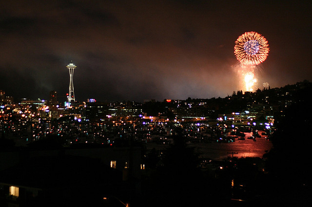 space needle 4th july