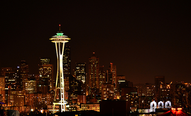 space needle seattle skyline