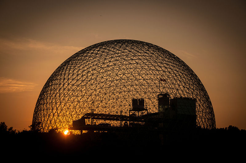 montreal biosphere sunset